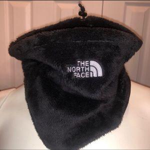 Black Fuzzy North Face